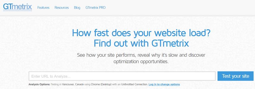Gt Metrix speed tool